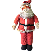 Large Vintage Masked Face Standing Store Display Santa