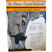 "1918 Sheet Music with Flapper on Cover, ""I'm Always chasing Rainbows"","