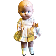 "9"" Hard Plastic Doll, Original Taffeta Dress"