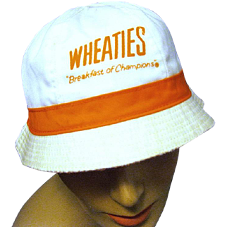 "Vintage ""Wheaties, Breakfast of Champions"" Bucket Hat,"