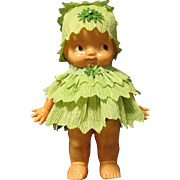 1950 Irwin St. Patrick's Day Leprechaun Doll in Crepe Paper Dress