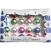 24 Shiny Brite Mini Christmas Ornaments for your Feather Tree