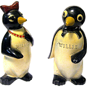 "Millie and Willie Penguin Salt Shakers, ""Kool"" Cigarette Premiums"
