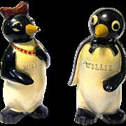 """Millie and Willie Penguin Salt Shakers, """"Kool"""" Cigarette Premiums"""