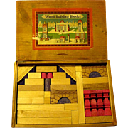 German Architectural Building Blocks in Original Slide Lid Box, 1940s