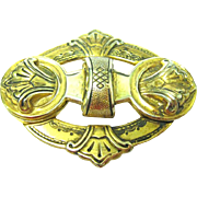 Surprising Photos Hide in this Signed CORO Victorian Revival Brooch
