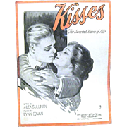 "1918 Sheet Music, ""Kisses"", DeTakacs Cover"