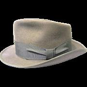 1950s Beaver Brand Gray Fur Felt Fedora