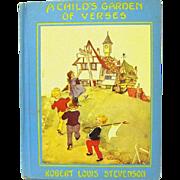 """A Child's Garden of Verses"", Robert L. Stevenson, Eulalie Illustrator, HC"