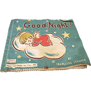 "1956 Peggy Cloth Book, ""Good Night"" by Charlotte Steiner"