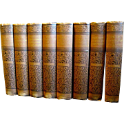 Victorian Set, Eight Volumes of Washington Irving's Works