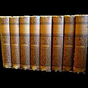 Victorian Set, Eight Volumes of Washington Irving's Works