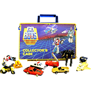 1984 Tonka Mighty Go-Bots Carrying Case and 10 Figures