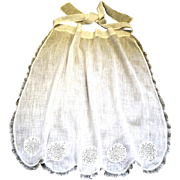 Fancy Handmade Handkerchief Weight White Victorian Apron