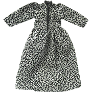 Tiny Navy and Cream Acorn Print Dress for China Doll
