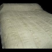 1920's Sheer Ecru Silk Bedspread
