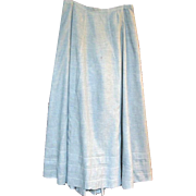 Long Blue Chambray Victorian Skirt or Petticoat