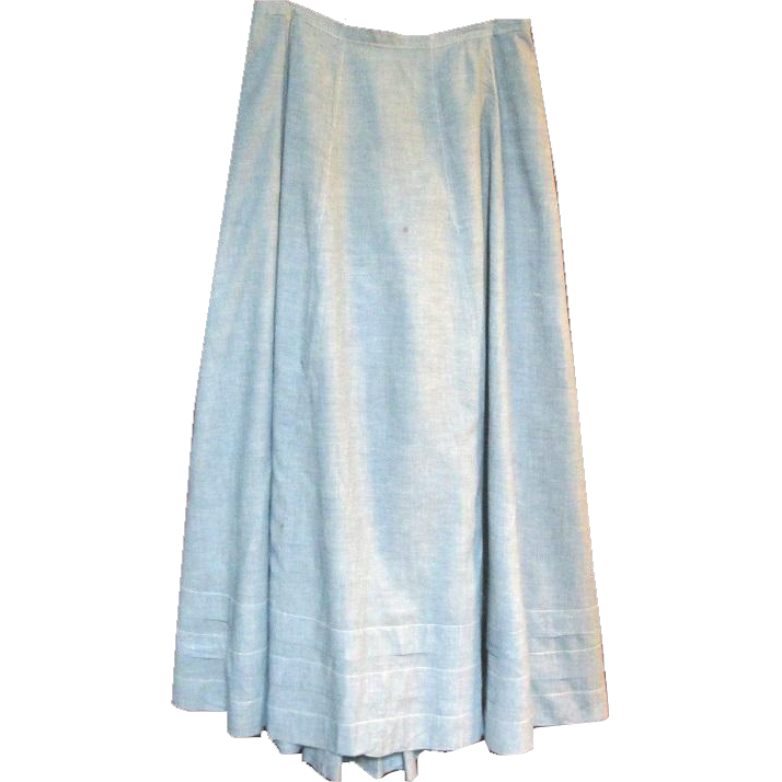 blue chambray edwardian skirt or petticoat from