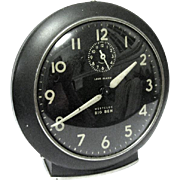 "1953 ""Big Ben"" Black Alarm Clock with Luminescent Dial and Hands"