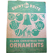 12 Old Shiny Brite Mercury Glass Christmas Ornaments, Original Box