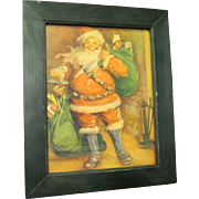 1928 Santa Claus Print by Frances Brundage