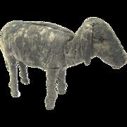Larger Antique Spun Cotton Wool Donkey Christmas Ornament