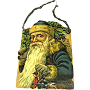 Edwardian Chromo Scrap Father Christmas Tinsel Ornament