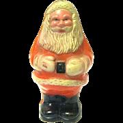 1940's Small Hard Plastic Santa Claus Rattle, Marked USA
