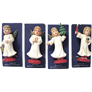 Wee Mid-century German Christmas Angels
