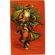 Edwardian Father Christmas Postcard by Otto Schloss