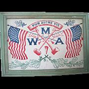 Large Framed Modern American Woodmen Patriotic Banner/Flag