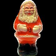 MId-Century Hard Plastic Santa Claus Rattle