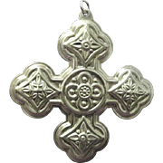 1971 Reed and Barton Sterling Silver Christmas Cross, First Issue