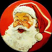 Mrs. Stevens Santa Claus Head Candy Tin, 1950