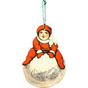 American Made Two-Sided Die-Cut Litho Paper Christmas Ornament, 1915