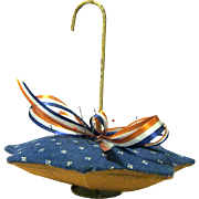 Vintage Novelty Pincushion in the Shape of an Open Umbrella