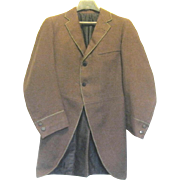 Authentic Gentleman's Victorian Wool Morning Coat, Small