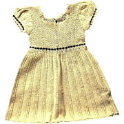 Never Used Vintage Hand Crocheted child's Dress from 1930s