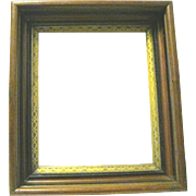 Elegant Victorian Deep Well Walnut Picture Frame