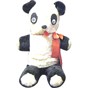 Large 1950's Plush Panda Bear