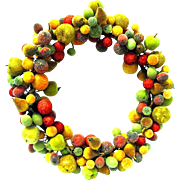 Vintage Beaded Fruit Christmas Wreath