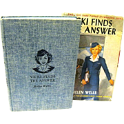 "The vicki Barr Flight Stewardess Book Series, ""Vicki Finds the Answer"", 1947, Helen Wells"