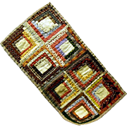 Outstanding Pre 1900 Miniature Log Cabin Doll Quilt, Pristine Quality