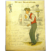"1902 Tuck and Sons Comic Valentine, ""Drugstore Clerk"""