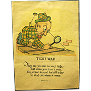 "1920s Vinegar Valentine, ""The Tight Wad"""