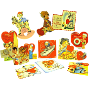 Collection of Twelve Valentines from the 1940s