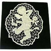 Vintage Lace Cherub, Ready to Frame
