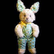 Cuddly Vintage Plush Easter Bunny