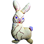 Soft Fabric Toy Bunny from the 1940s