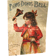 Victorian Linen Children's Nursery Rhyme Book, McLaughlin Bros. Ding dong Bell Series